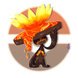 Lavalotto, the Magma Bloom Fakemon by Aalacer