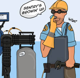 Sentry's Growin' Up. by Teenfight