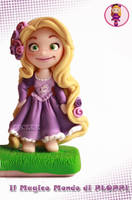 Tangled Rapunzel Fimo Clay by Ploppi by MagicoMondoDiPLOPPI