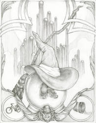 Faceless Portrait: The Wicked Witch | Drawing by SimoneMorgan