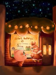 a sweet night (Redrawn version) by Ittybitystar