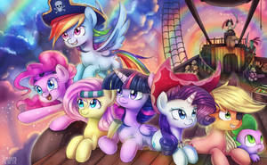 Pirate mane six by LooknamTCN