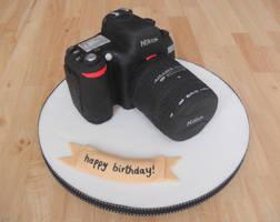 Nikon Cake. by RebeccaRoseBrine