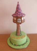 Tangled Tower Cake. by RebeccaRoseBrine