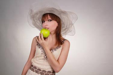 Hat and apple by elara-dark