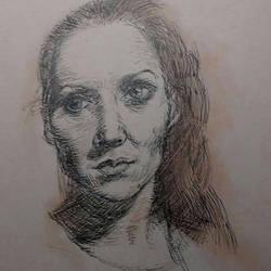 Recent pen sketch by kevsonicist