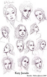 Katy Jurado sketches by purplerebecca