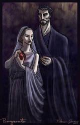Pomegranate - Hades and Persephone by purplerebecca