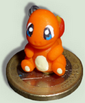 Mini Hand made figure of Charmander *-* by TheLittlelight