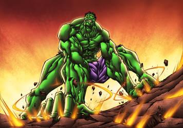 Hulk SMASH them FLOORS!! by ArtOfTDJ