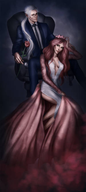 Undertaker and fem!Grell by CocaineJia