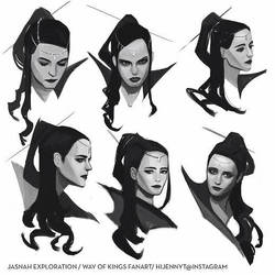 Jasnah expressions (way of kings) by jennytan