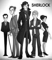 Sherlock by aerettberg