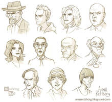 Breaking Bad caricatures by aerettberg