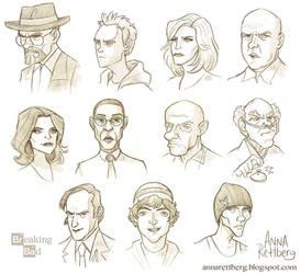 Breaking Bad caricatures by aerettberg