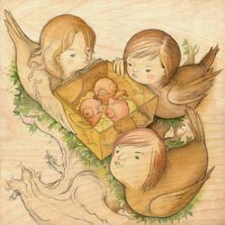 The Bird Girls by siowowo