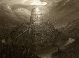 Tower design -Giant library concept by chvacher