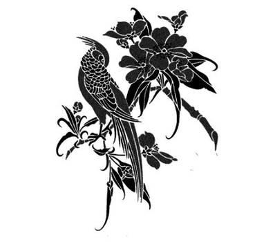 Asian branch tattoo