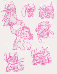 Lilo and Stitch Sketch Dump by hayleykayarts