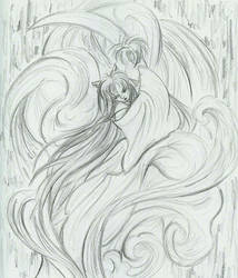 InuYasha - after Amano by GoblinQueeen