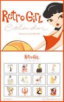 Classic Retro Girl Calendar by GoblinQueeen