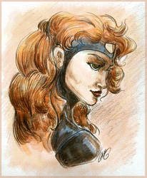 Jean Grey Portrait by GoblinQueeen
