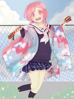 Koto cosplay Naru hanayamata by cherrysoff
