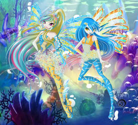 |Winx Private Collab 2.0| Hikari and Dia Sirenix by BlueLightningHikachu