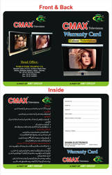 Tv Waranty Card by cmzaib