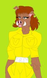 TMNT-April as a warthog mutant by MissSerbianJelena