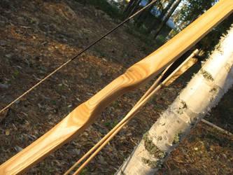 Birch flatbow handle detail by taika-kim