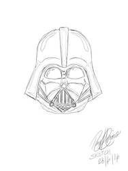 Darth Vader Sketch by Xanatos4