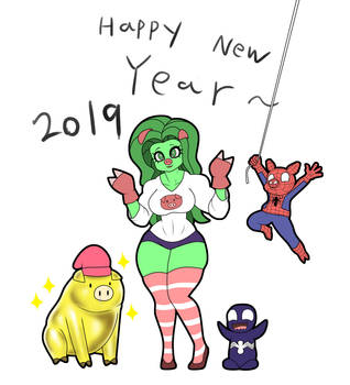 2019 happy new year ^^ by franschesco