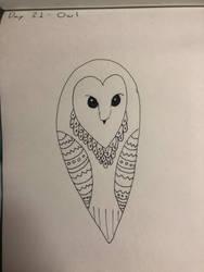 Inktober Day 21-Owl by Creativa-Artly01