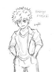 Bakugo Katsuki Sketch by anime-luvrHES