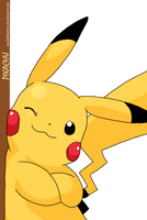 Pikachu by vanillafloat23