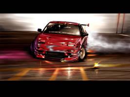 240 SX speedpaint by Attila106