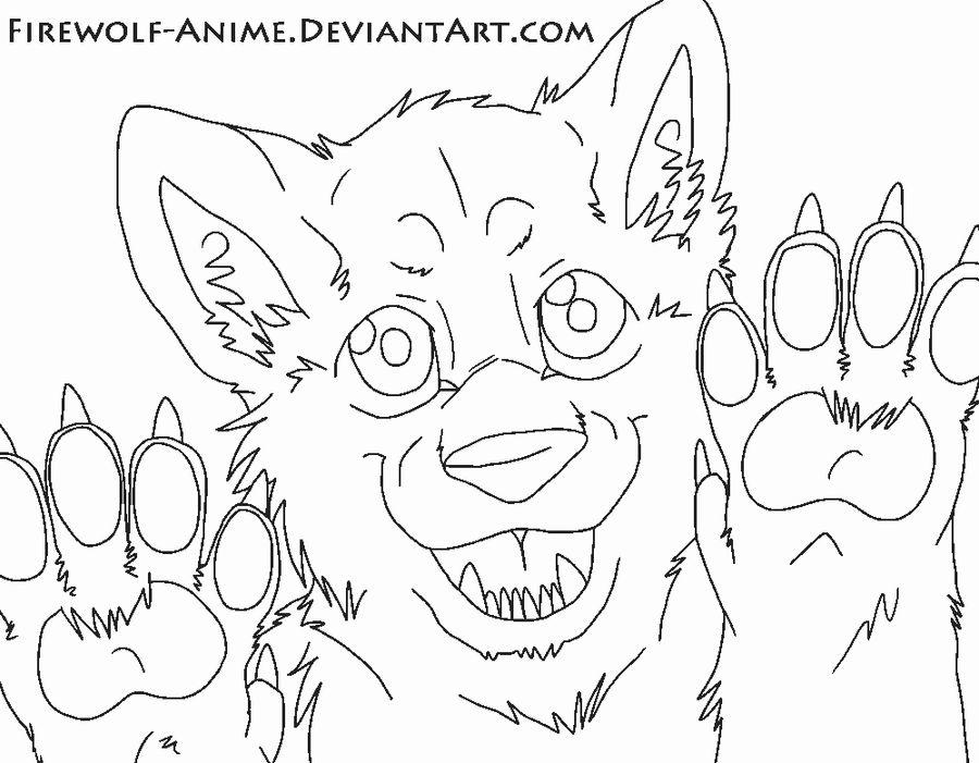 In Yo Face Line Art By Firewolf Anime On Deviantart