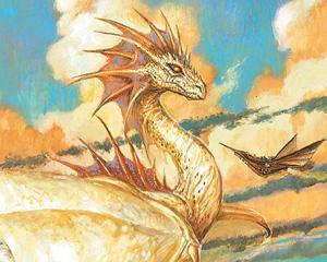 Alabaster Dragon Mtg original by AZlaecxh421