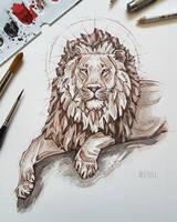 Lion portrait by MsLydix