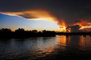 Sunset Over Mooring 10-1 by AllMostDeviant