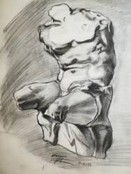 Male Torso by Fayrin
