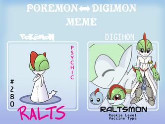PKMN to Digimon Meme - Ralts by Caretaker-of-Myth