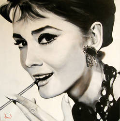 Audrey Hepburn by davidreevespayne1