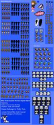 [Undertale] Blue Soul Sprite Sheet by poi-rozen