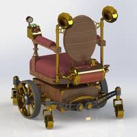 Steampunk Wheelchair Back by Dixbit