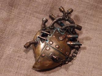 Steampunk heart pendant by ChanceZero