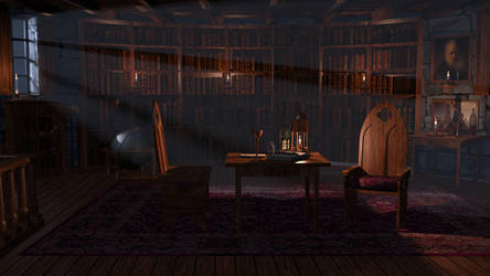 The Tower Room Library by CareldeWinter