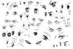 30 Manga eyes by Nausicaa-7