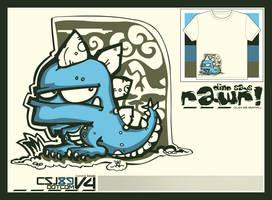 Tee - Rawr by graphikj